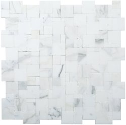 Magic Natural Stone Marble Calacatta 280x280 Sheet Honed Mosaic