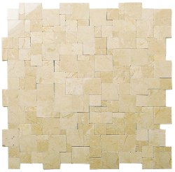 Magic Natural Stone Marble Crema Marfil 280x280 Sheet Polished Mosaic