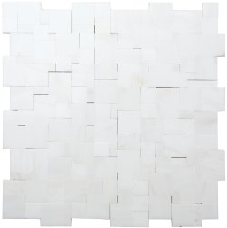 Magic Natural Stone Marble Dolomite White 280x280 Sheet Honed Mosaic