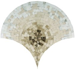 Peacock Natural Stone Marble Multi Brown 430x415 Sheet Polished Mosaic