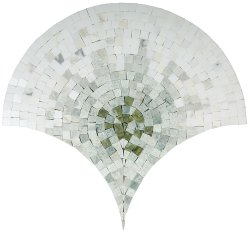 Peacock Natural Stone Marble Multi Green 430x415 Sheet Polished Mosaic