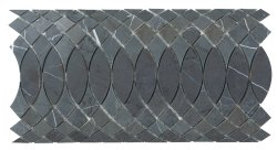 Surfing Border Natural Stone Marble Persian Blue 310x168 Sheet Polished Mosaic