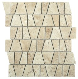 Castle Natural Stone Marble Travertine Classico 300x260 Sheet Polished + Honed|Mixed Mosaic