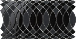 SURFINGS Crystal Glass Nero|Black Glossy  mosaic