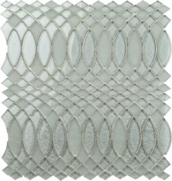 Metallic Glass Aluminum|Metallic Grey SURFING MOSAICS