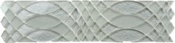 Metallic Glass Aluminum|Metallic Grey SURFING MOSAICS BORDER SMALL