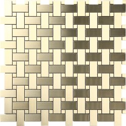 Metal Brass BASKET WEAVE Brushed