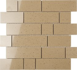 Everquartz Sandbank Original Brick Polished Porcelain Mosaic