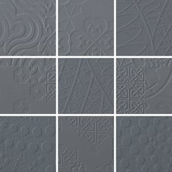 Durastone 3D Relief 100x100 Mosaic Steel Grey a Mixed Pattern