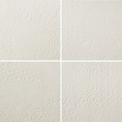Durastone 3D Relief Tile Crema Luna Classico 300x300 (4 tiles illustrating varied pattern)