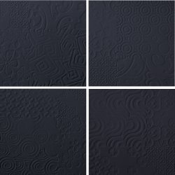 Durastone 3D Relief Tile Charcoal Classico 300x300 (4 tiles illustrating varied pattern)