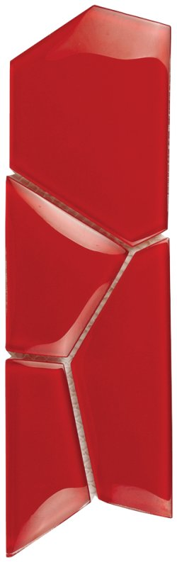 Crystal Mosaic Red Water Cube Border