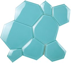 Crystal Mosaic Blue Haven Water Cube