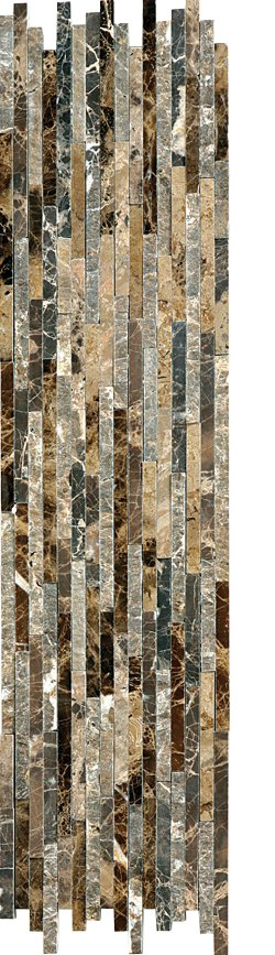 Marble Mosaic Emperador Dark Natural Split Plus