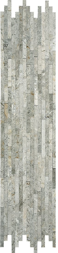 Marble Mosaic Silver Grey Natural Split Plus