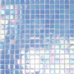Pool Glass Blue Light 20x20