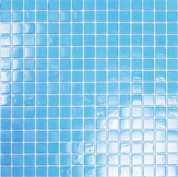 Pool Glass Aqua Blue 20x20